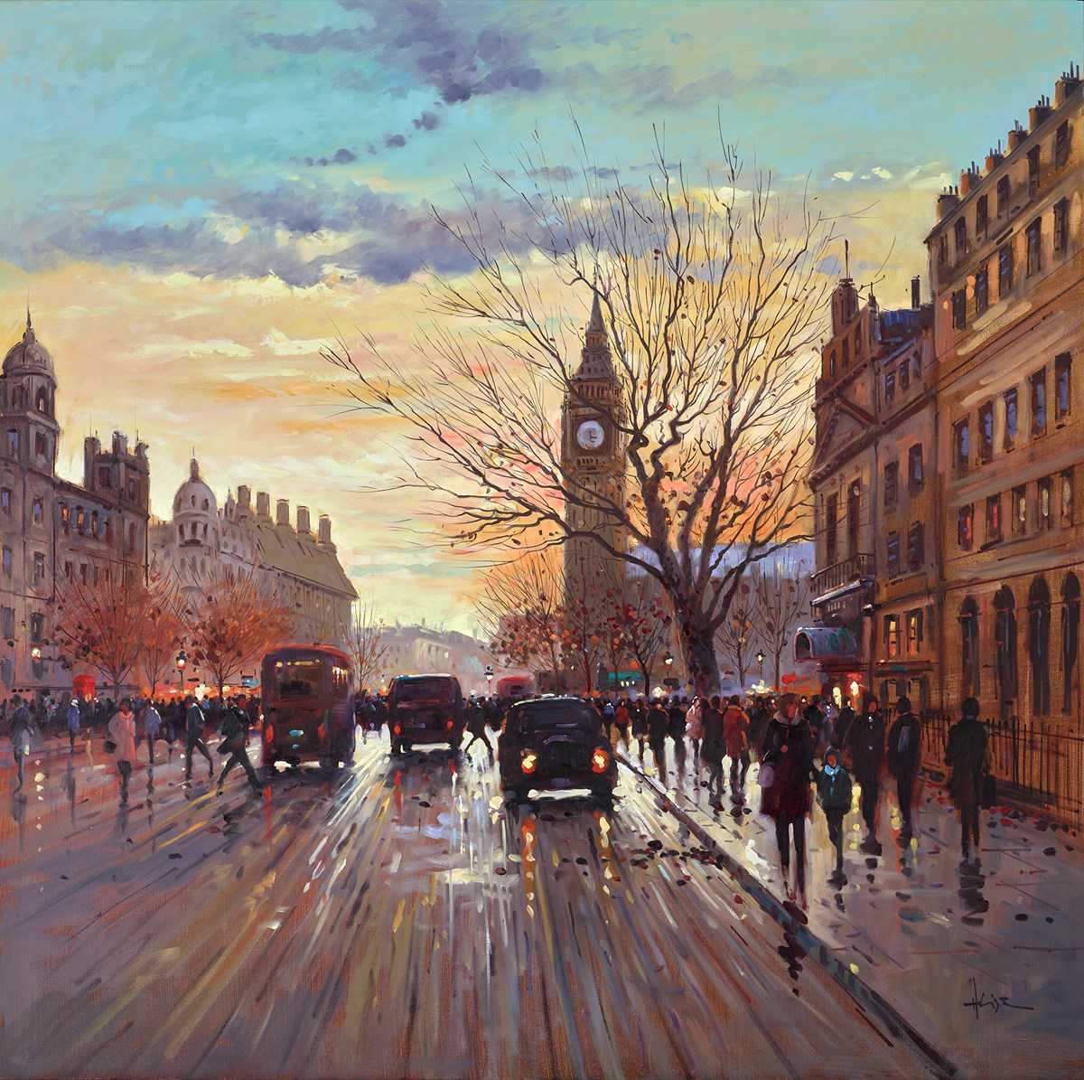 Big Ben Sunset by henderson cisz -  sized 40x40 inches. Available from Whitewall Galleries
